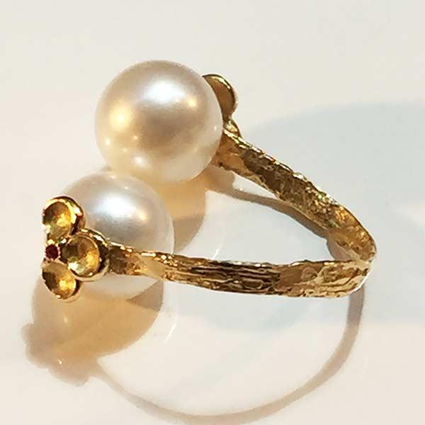 Bague Perles d'Akoya