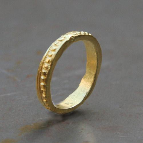 Matt gold Ring