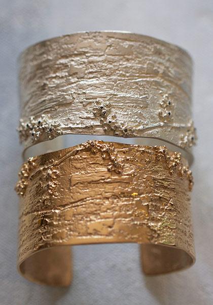 Bracelets & manchettes en argent & or