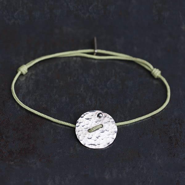Bracelet Disque martelé