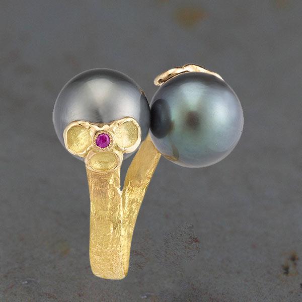 Bague Perles de Tahiti