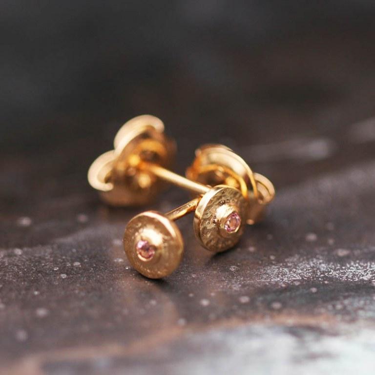 Boucles d'oreilles Feliz Clou pierre rose