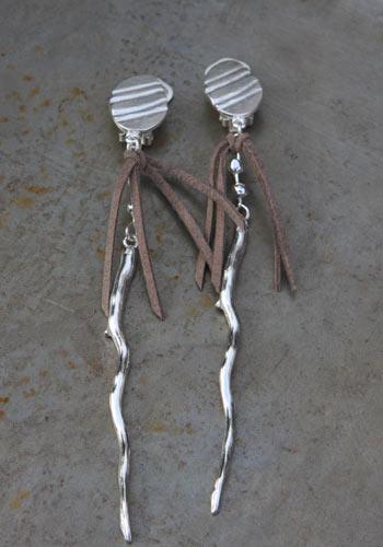 Boucles d'oreilles clip Sarment